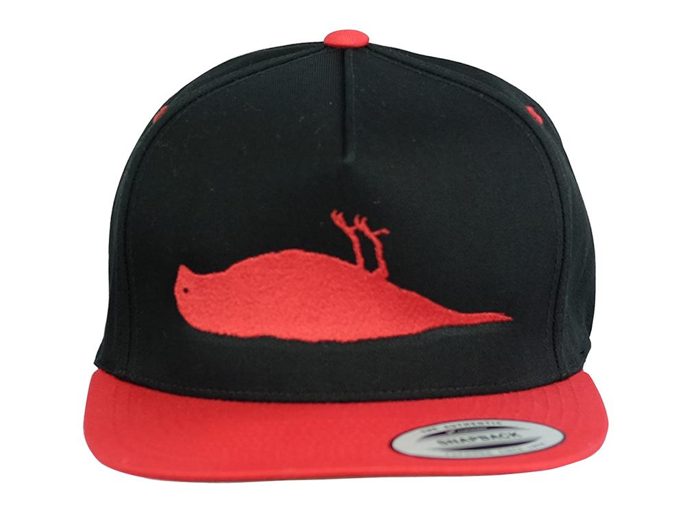 Bird Snapback Cap Black / Red