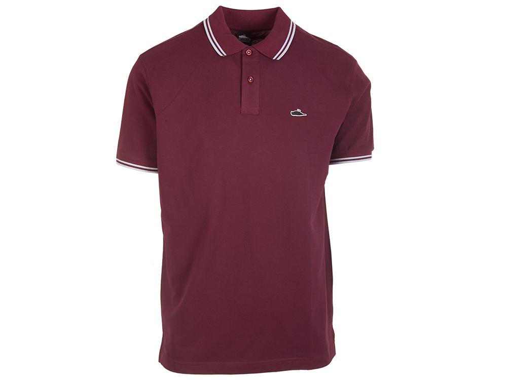 ATCS Classic Tipped Polo Burgundy / Sky