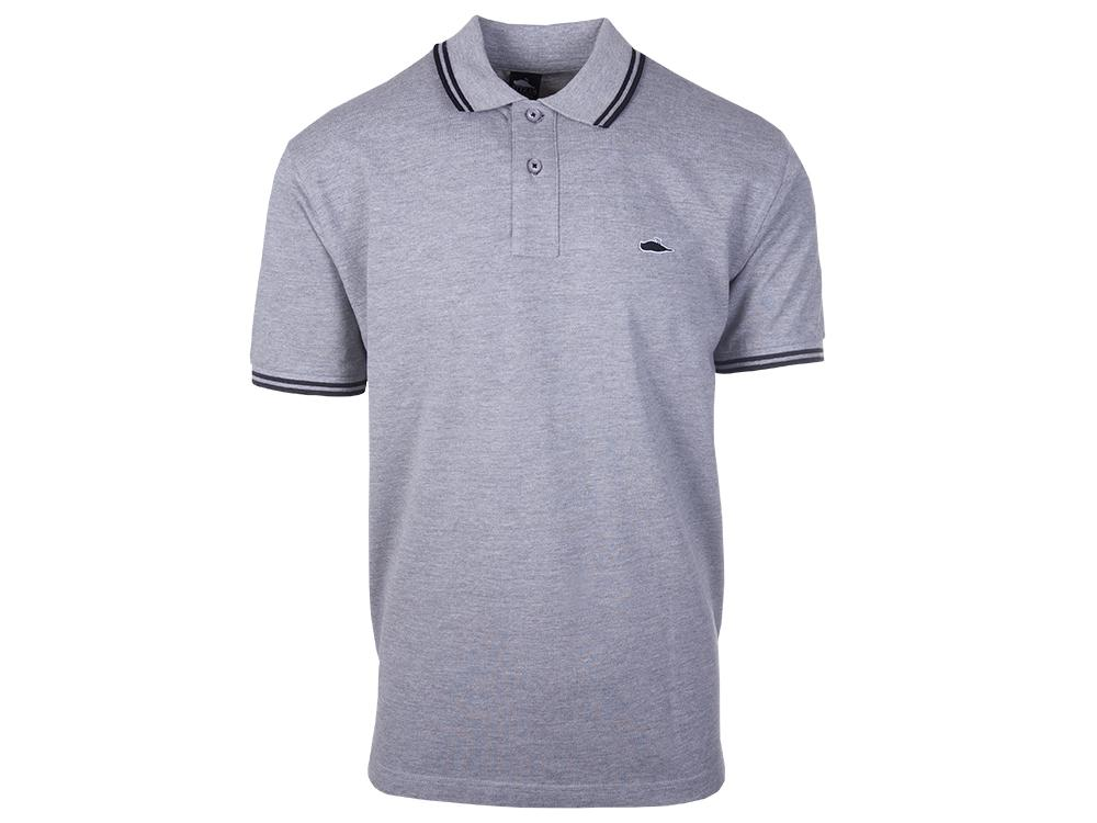 ATCS Classic Tipped Polo Heather Grey / Black