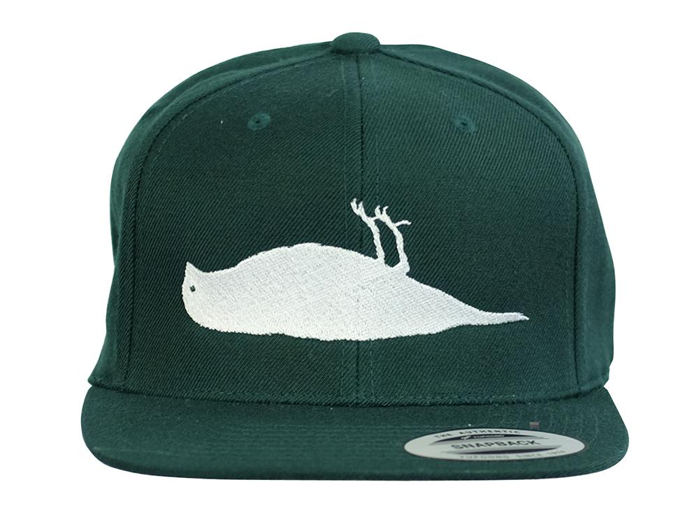 ATCS Solid Bird Snapback Hat Forest Green