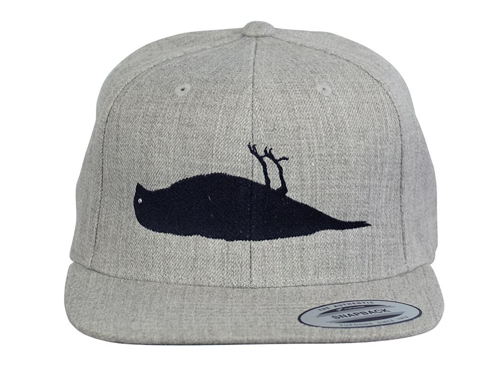 ATCS Solid Bird Snapback Hat Heather Grey