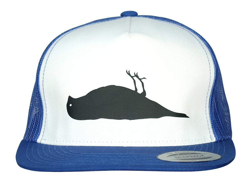 Atticus Bird Trucker Hat Blue / White